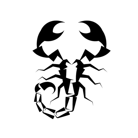 Scorpio black logo on white background vector illustration