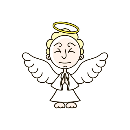 Christmas angel decoration vector design. Greeting Card for X-mas for wood carving, paper cutting and holiday decorations.
