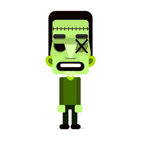 Cartoon puppet zombie. Vector illustration. Happy Halloween