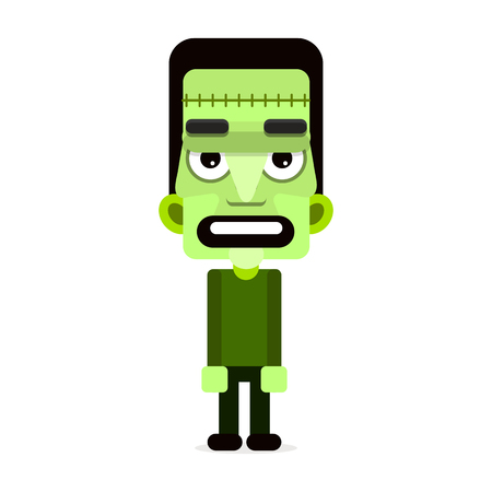 Cartoon puppet zombie. Vector illustration. Happy Halloween
