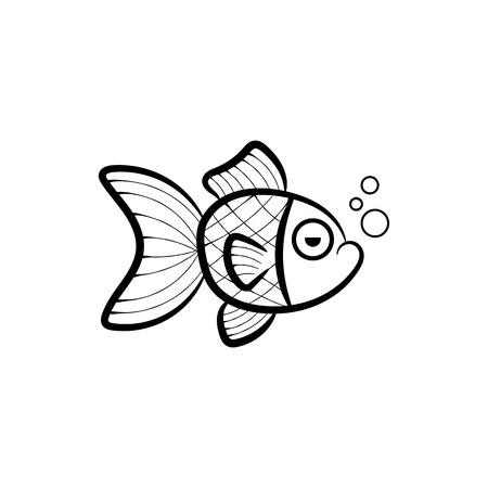 Mer sous-marine en papier avec des vagues de poissons. Papier découpé vecteur de style profond. Vie marine d'un bleu profond, concept de plongée. La faune océanique Vecteurs