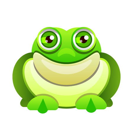 Cute frog cartoon isolated on white background .Vector illustration