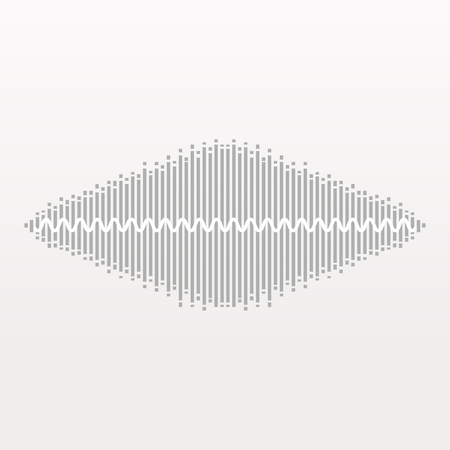 Pulse Music Player. Audio Wave Logo. Vector Equalizer
