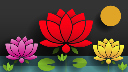 Paper Flower. Lotus. Nature Vector Illustration For Your Needs