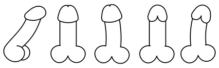 Vector Adult Sex Toys Vibrators Icon. Dildo Vibrator Set . Illustration Of A Female Vibrator In The Style Of Flat Minimalism.
