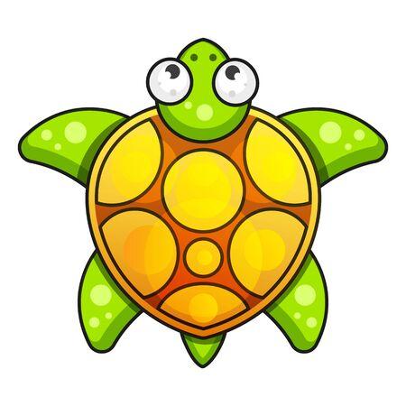 Sea Turtle Icon. Vector Illustration On White Background Illustration