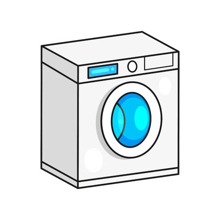 Washing machine Vector Image Ready For Your Design, Greeting Card