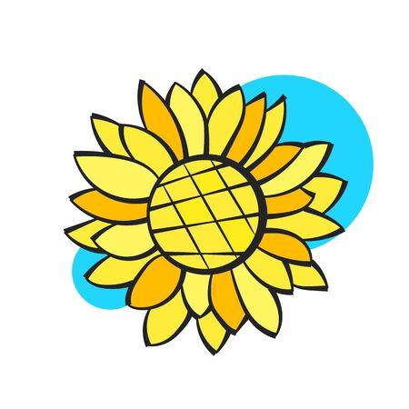 Sunflower Flower Isolated, Vector Illustration. Nature Background For Your Design