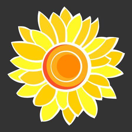 Sunflower Flower Isolated, Vector Illustration. Nature Background Ilustrace
