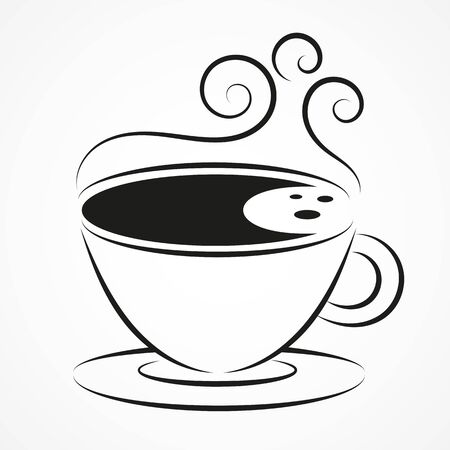 Simple Vector Coffee Icon Isolated On Background. Eps 10