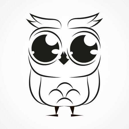Owl Vector Template For Postcards Printing And Your Needs