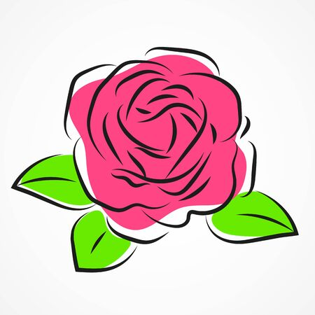 Silhouette Of Roses On A Background. Floral Background. Иллюстрация