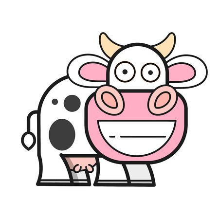 Cow icon Design Template. Vector Illustration For T-shirts , Flyers , Textiles Stock Illustratie