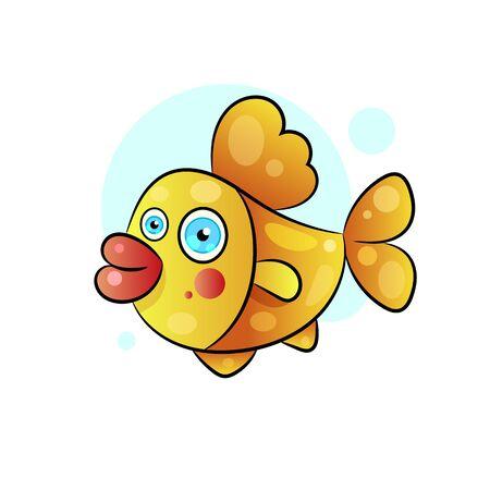 Fish Vector Design Template. Seafood Restaurant Idea. Vector Illustration