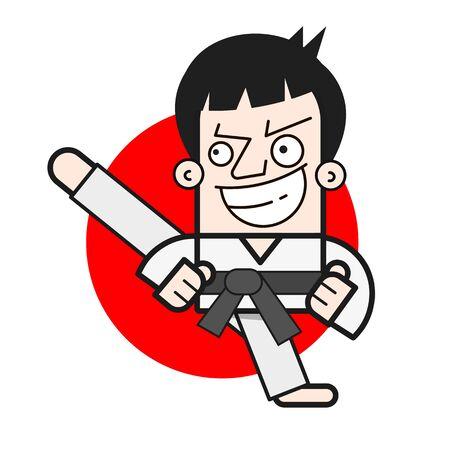 Taekwondo Logo Design Template. Vector Illustration For T-shirts , Flyers , Textiles