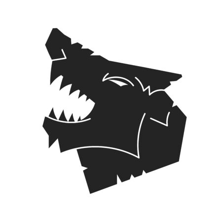 Wolf  Design Template. Vector Illustration For T-shirts , Flyers