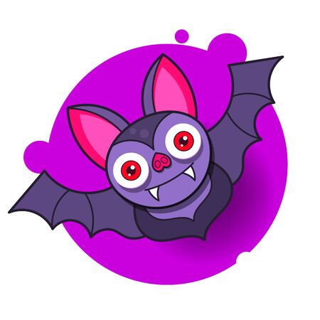 Abstract Bat Halloween For Decoration Design. Abstract Illustration. Horror Halloween Background.