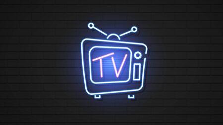 Vintage Hologram Tv. Electronic Background. Isolated Illustration