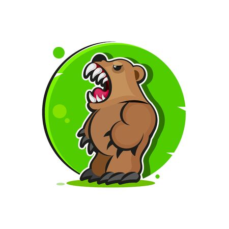 Grizzly Mascot, Team Design, Angry Bear
