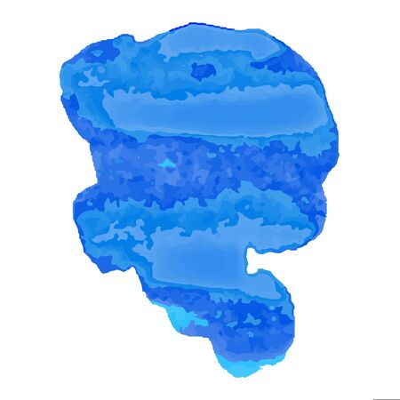 Watercolor Blob, Illustration Isolated On White Background Ilustracja