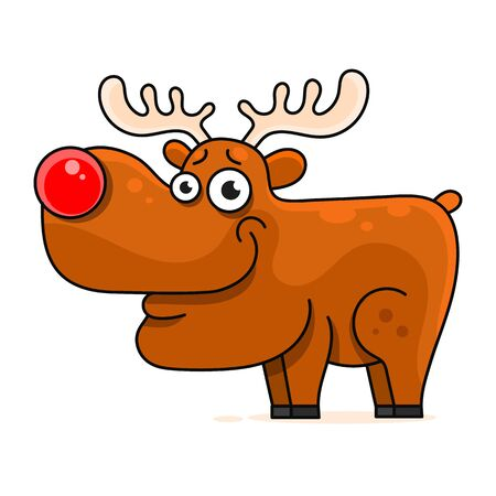 Cute Deer Cartoon Vector Illustration For Your Needs 向量圖像