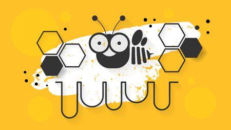 Honey. Bee, Honey Cartoon Vector Clip Art Illustration