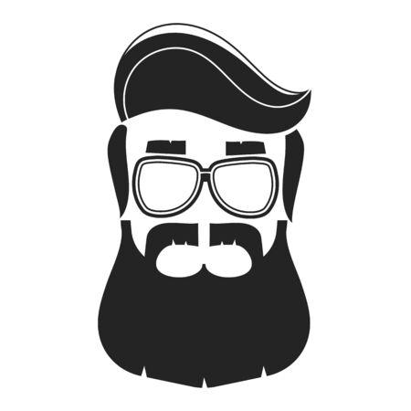 Wektor Widok Profilu Brodatego Mężczyzny Do Salonu Fryzjerskiego, Plakatu, Plakatu I Szablonu.