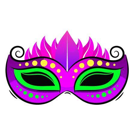 Schöne Maske aus Spitze. Karneval-Vektor-Hintergrund-Spaß-Geheimnis-Feiertage-Zeichen-Design.