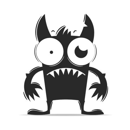 Fear Monster Vector Illustration Suitable For Greeting Card, Poster Or T-shirt Printing.