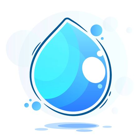 Drop Of Pure Water Vector Illustration Suitable For Greeting Card, Poster Or T-shirt Printing.