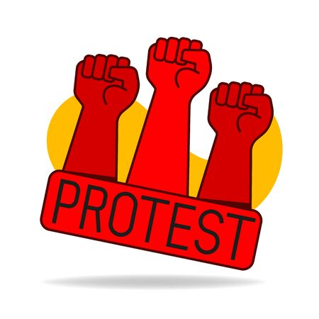 Fist Male Hand, Proletarian Protest Symbol. Power Sign. Illustration Suitable For Greeting Card, Poster Or T-shirt Printing. Vektorgrafik
