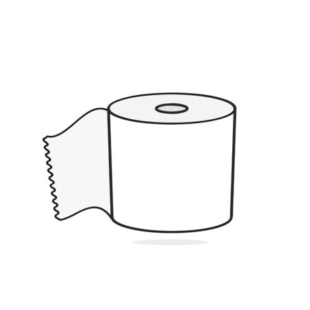 Toilet paper Vector Suitable For Greeting Card, Poster Or T-shirt Printing.