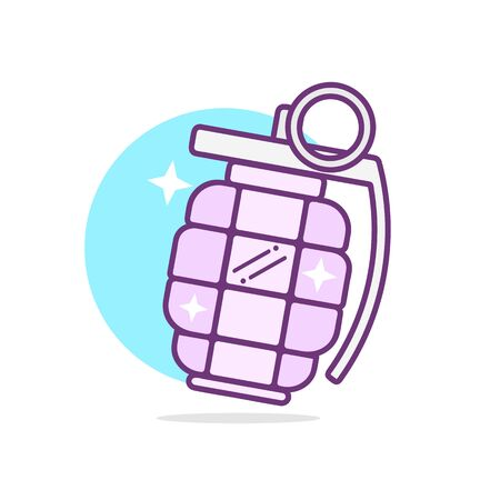 Hand grenade Vector Illustration Suitable For Greeting Card, Poster Or T-shirt Printing.