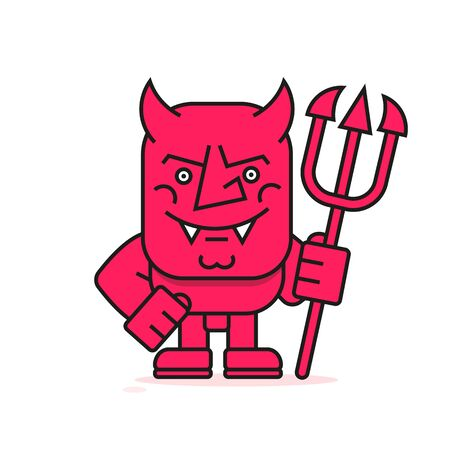 devil Vector Illustration Suitable For Greeting Card, Poster Or T-shirt Printing.