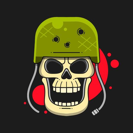 Military Skull Emblem, Rider And Insignia, Icon And Tattoo Imagens - 147128256
