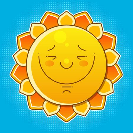Vector Illustration Of Cool Single - Shiny Sun In The Blue Sky