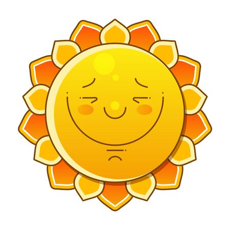 Sun Over White - Vector Illustration. Sun With Big Sign. Nice Background