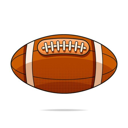 American Football Ball Isolated On A White Background. Realistic Vector Illustration. Sport.