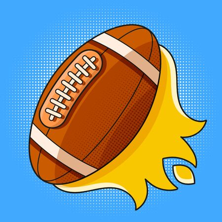 American Football Vector Icon, Sports Ball Symbol. Modern, Simple Flat Vector Illustration For Web Site Or Mobile App