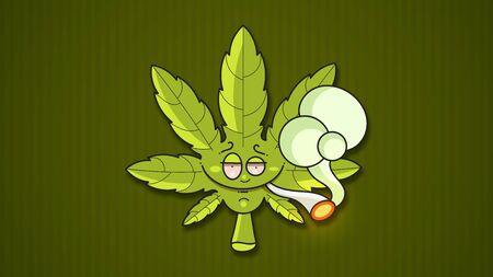 Medical marijuana Suitable For Greeting Card, Poster Or T-shirt Printing.