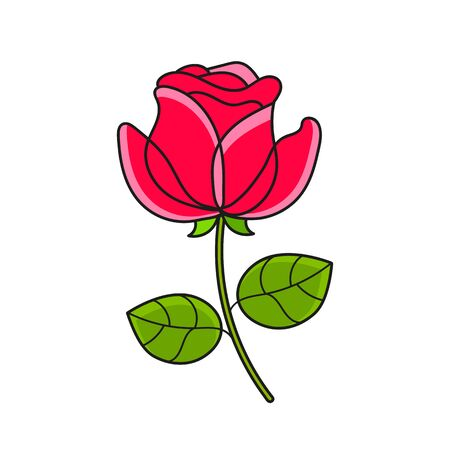 Rose Flower Symbol, Tattoo Suitable For Greeting Card, Poster Or T-shirt Printing.