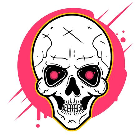 Scull Hand Drawn Art Vector Icon Vector Suitable For Greeting Card, Poster Or T-shirt Printing. Çizim