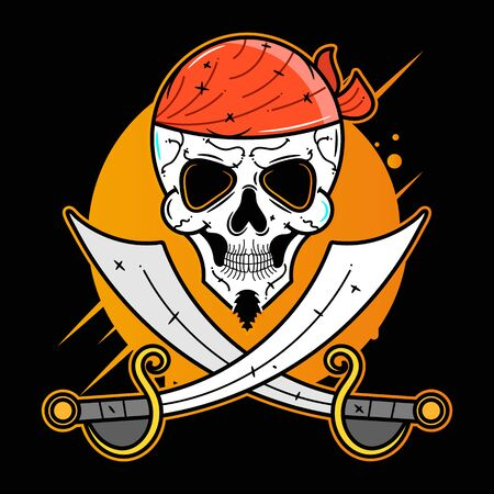 Pirate, Funny Character, Vector Icon Vector Suitable For Greeting Card, Poster Or T-shirt Printing.