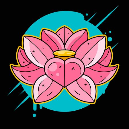 Lotus Printing On T-shirt, Fabric, Mugs And Souvenirs. Rainbow, Acid, Lsd, Dmt, Meditation, Psychedelic, Narcotic, Nature Flowers Pattern 60s Trippy Dreamy Lotos Tattoo Çizim