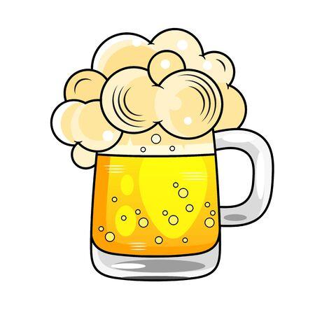 Good drink good beer-beer vintage monochrome stock illustration, typographic design Çizim