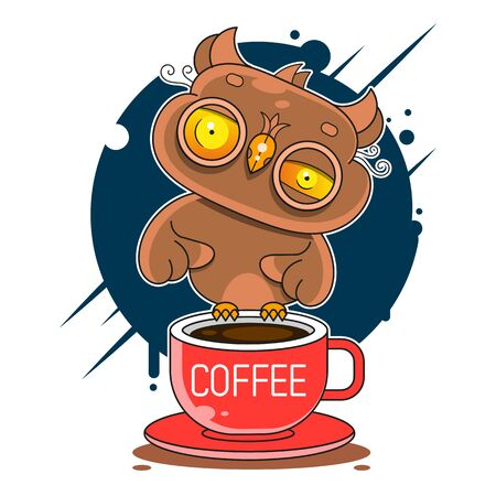 Simple modern owl  template Vector Illustration Suitable For Greeting Card, Poster Or T-shirt Printing.