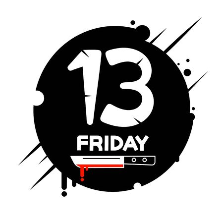 Friday the 13th calendar Vector Illustration Suitable For Greeting Card, Poster Or T-shirt Printing.  イラスト・ベクター素材