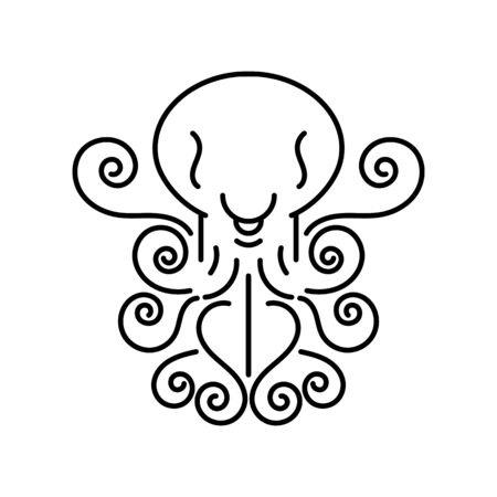 Octopus  Vector Illustration Suitable For Greeting Card, Poster Or T-shirt Printing.