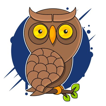 Owl, vintage engraved illustration. Natural History of Animals Vector Illustration Suitable For Greeting Card, Poster Or T-shirt Printing.