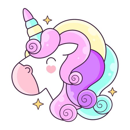 Unicorn. Vector illustration Suitable For Greeting Card, Poster Or T-shirt Printing. Çizim